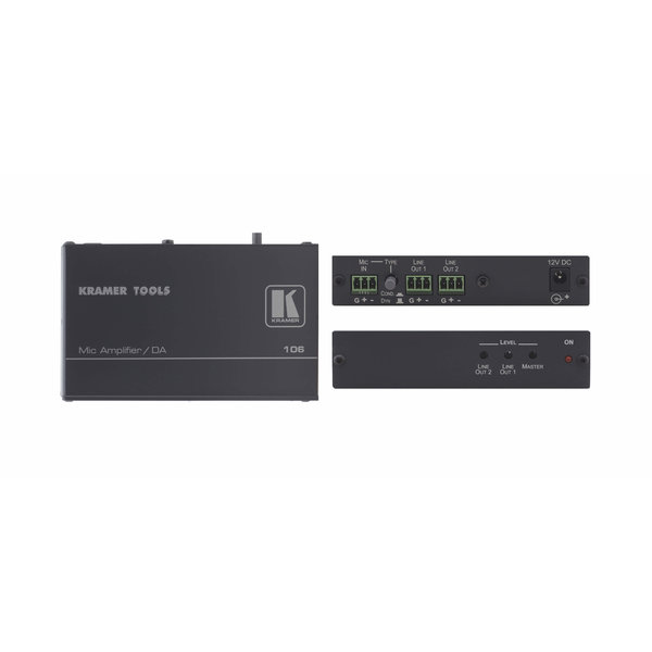 KRAMER KRAMER - 106 Microphone to Line Distribution Amplifier