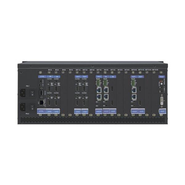 KRAMER KRAMER - VS-1616DN-EM 2x2 to 16x16 Modular 4K60 4:2:0 Multi–Format Managed Digital Matrix Switcher