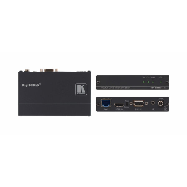 KRAMER - TP-580Txr 4K60 4:2:0 HDMI HDCP 2.2 Transmitter with RS–232 & IR over Extended–Reach HDBaseT