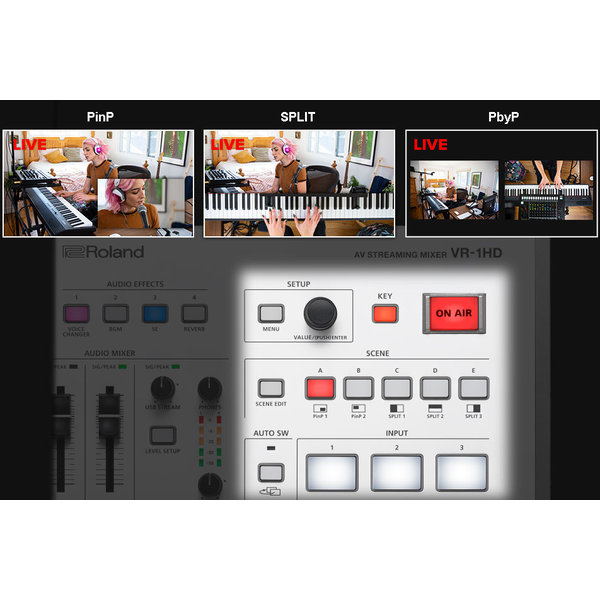 Roland ROLAND - VR-1HD - AV Streaming Mixer with USB2.0/3.0 Streaming Output