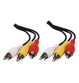 3 RCA plug naar 3 RCA plug