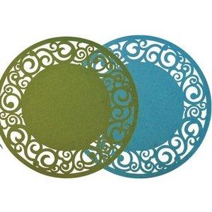 Finnmari Placemat Felt Turquoise 35cm