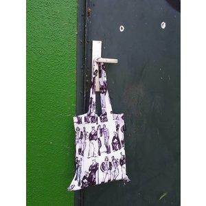 Finlayson TOF TOTE BAG FELLOWS BLACK/WHITE 36X42