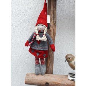 Kerstkabouter meisje (26cm)