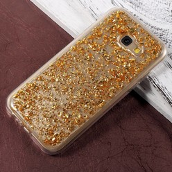 Samsung Galaxy A5 2017 hoesje - Gouden blaadjes