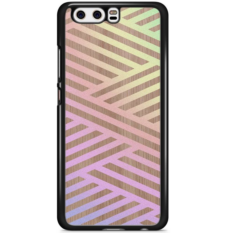 Huawei P10 hoesje - Holographic wood
