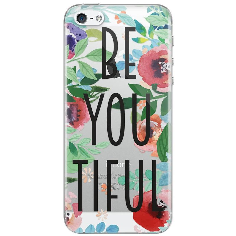 iPhone 5/5S/SE transparant hoesje - Beyoutiful