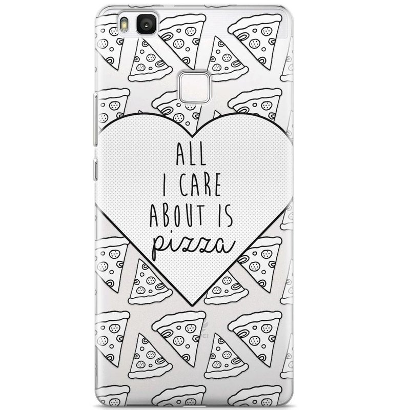 Huawei P9 Lite transparant hoesje - Pizza is love