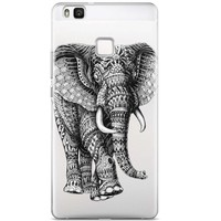 Huawei P9 Lite transparant hoesje - Olifant