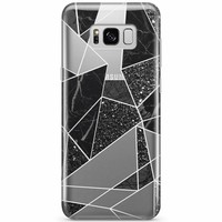 Samsung Galaxy S8 transparant hoesje - Abstract painted