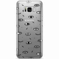 Samsung Galaxy S8 transparant hoesje - Eye see you