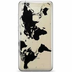 Huawei P10 Lite siliconen hoesje - Wereldmap