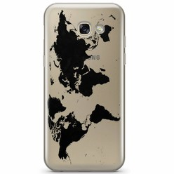 Samsung Galaxy A3 2017 transparant hoesje - Wereldmap