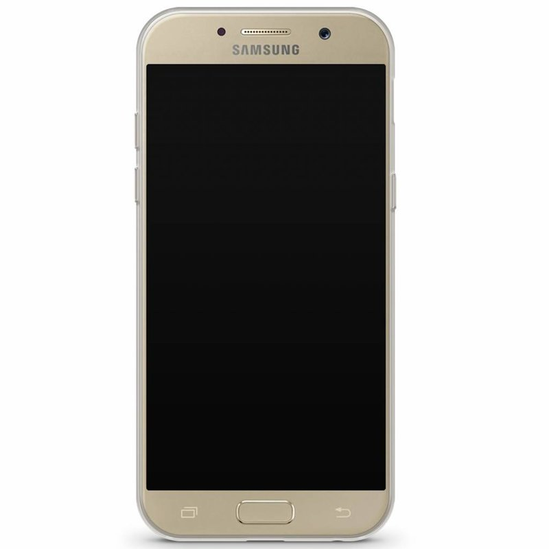 Samsung Galaxy A3 2017 transparant hoesje - Palm leaves silhouette
