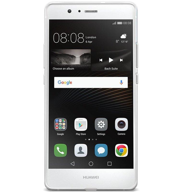 Huawei P9 Lite transparant hoesje - Mint hart