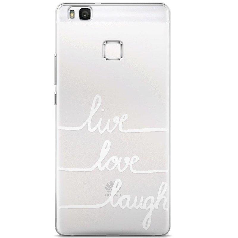 Huawei P9 Lite transparant hoesje - Live, love, laugh