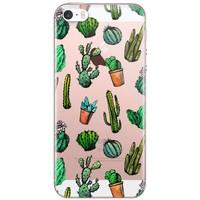 iPhone 5/5s/SE transparant hoesje - Cactus printje