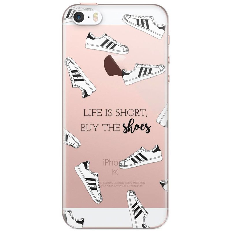 iPhone 5/5S/SE transparant hoesje - Sneakers