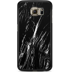 Samsung Galaxy S6 hoesje - Black is my happy color (marmer)
