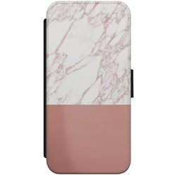 iPhone 8/7 flipcase hoesje - Marmer rosegoud twist