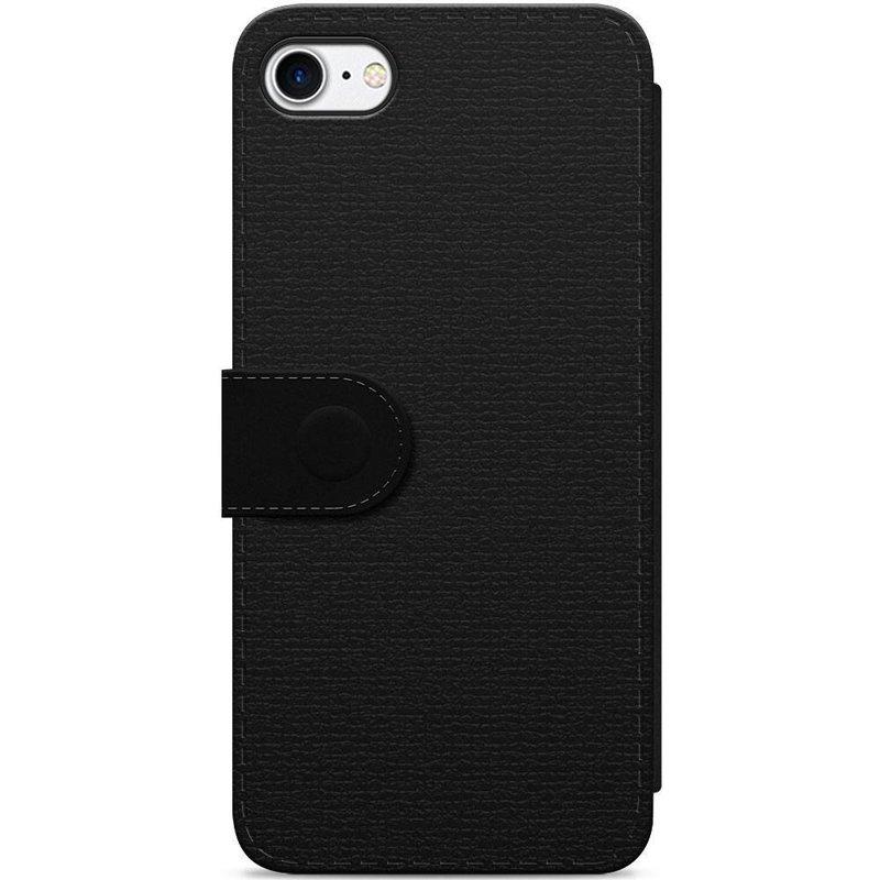 iPhone 8 / 7 flipcase hoesje - Marmer zwart grijs