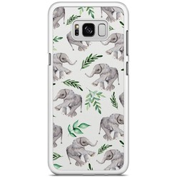Samsung Galaxy S8 Plus hoesje - Floral olifantjes