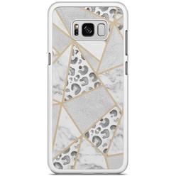 Samsung Galaxy S8 Plus hoesje - Stone & leopard print