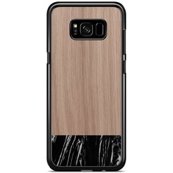 Samsung Galaxy S8 Plus hoesje - Marmer zwart wood