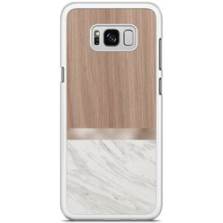 Samsung Galaxy S8 Plus hoesje - Marble wood