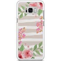 Samsung Galaxy S8 Plus hoesje - Blush pink rose