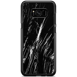 Samsung Galaxy S8 Plus hoesje - Black is my happy color (marmer)