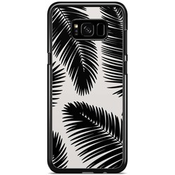 Samsung Galaxy S8 Plus hoesje - Palm leaves sillhouette