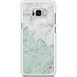Samsung Galaxy S8 Plus hoesje - Marmer mint mix