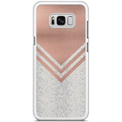 Samsung Galaxy S8 Plus hoesje - Rose gold snake