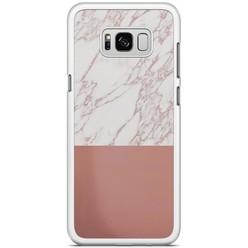 Samsung Galaxy S8 Plus hoesje - Rose goud marmer