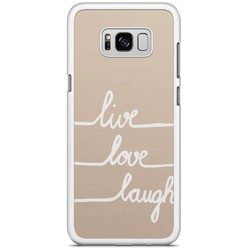 Samsung Galaxy S8 Plus hoesje - Live, love, laugh