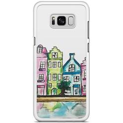 Samsung Galaxy S8 Plus hoesje - Amsterdam grachtenpanden
