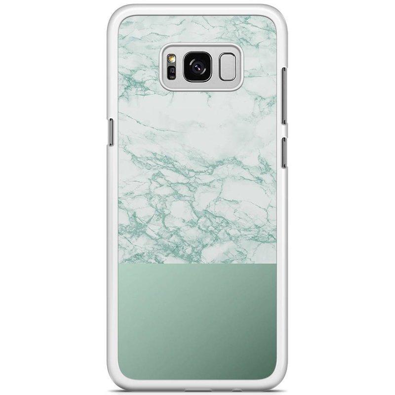 Samsung Galaxy S8 Plus hoesje - Minty marble