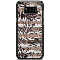 Samsung Galaxy S8 Plus hoesje - Rose gold leaves