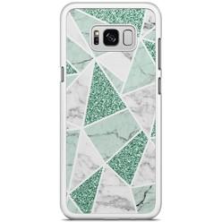 Samsung Galaxy S8 Plus hoesje - Marmer mint