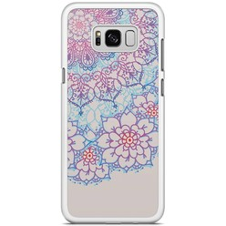 Samsung Galaxy S8 Plus hoesje - Red & blue floral