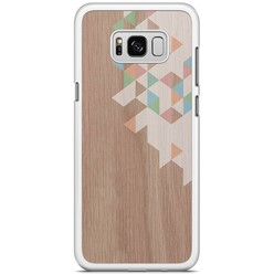 Samsung Galaxy S8 Plus hoesje - Geo blocks on wood