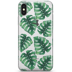 iPhone X/XS transparant hoesje - Palmbladeren
