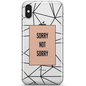 iPhone X/XS hoesje - Sorry not sorry