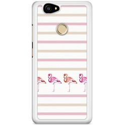Casimoda Huawei Nova hoesje - Flamingo stripes