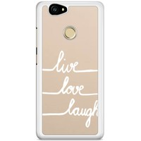 Casimoda Huawei Nova hoesje - Live, love, laugh