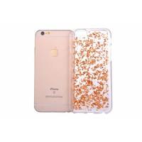 iPhone 6/6s siliconen hoesje - Rosegouden blaadjes
