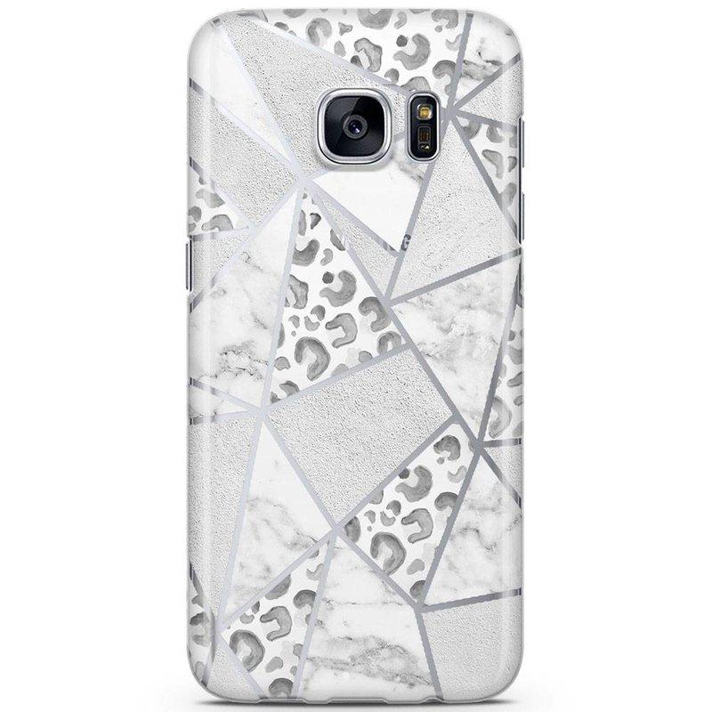Samsung Galaxy S7 siliconen hoesje - Stone & leopard print