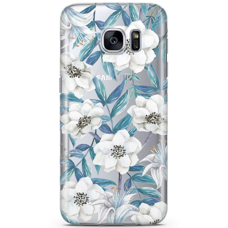 Casimoda Samsung Galaxy S7 siliconen hoesje - Touch of flowers