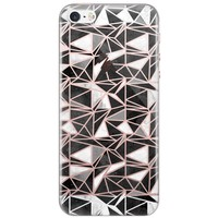 Casimoda iPhone 5/5s/SE siliconen hoesje - Abstract blocks